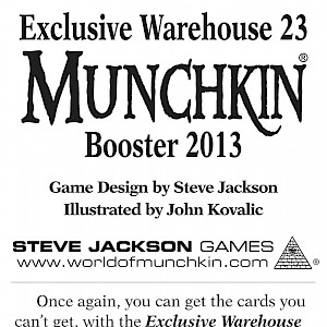 Exclusive Warehouse 23 Munchkin Booster 2013 cover