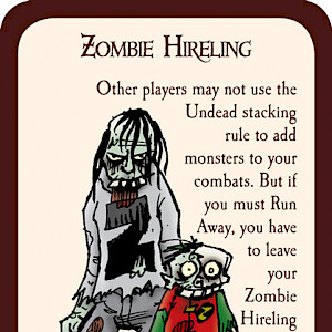 Zombie Hireling Munchkin Promo Card cover