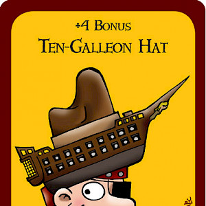 Ten-Galleon Hat Munchkin Booty Promo Card cover