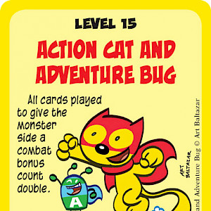 Action Cat and Adventure Bug Super Munchkin Promo Card cover