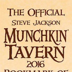 The Official Steve Jackson Munchkin Tavern 2016 Bookmark of Cooperative Quaffing! cover