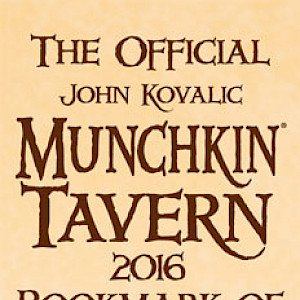 The Official John Kovalic Munchkin Tavern 2016 Bookmark of What the Duck?! cover