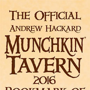 The Official Andrew Hackard Munchkin Tavern 2016 Bookmark of Editorial Oversight! cover