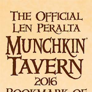 The Official Len Peralta Munchkin Tavern 2016 Bookmark of Geeking Weakly! cover