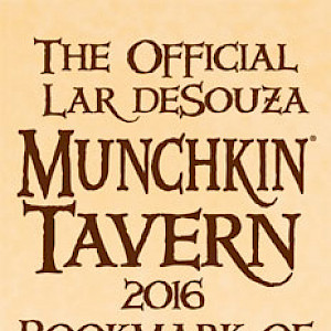 The Official Lar deSouza Munchkin Tavern 2016 Bookmark of Saving Your Bacon! cover