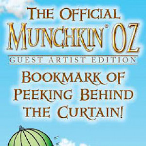 The Official Munchkin Oz Guest Artist Edition Bookmark of Peeking Behind the Curtain! cover