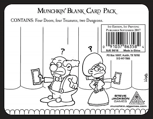 Munchkin Blank Card Pack cover