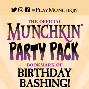 The Official Munchkin Party Pack Bookmark of Birthday Bashing! cover