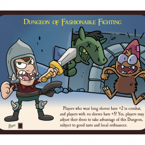 Dungeon of Fashionable Fighting Munchkin Promo Card cover