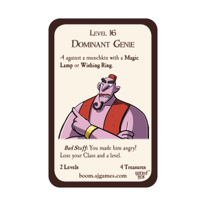 Dominant Genie Munchkin Promo Card cover